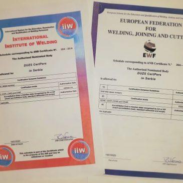 Sertifikaciono telo za sertifikaciju zavarivačkog osoblja Srbije
