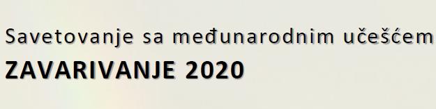 Savetovanje ZAVARIVANJE 2020