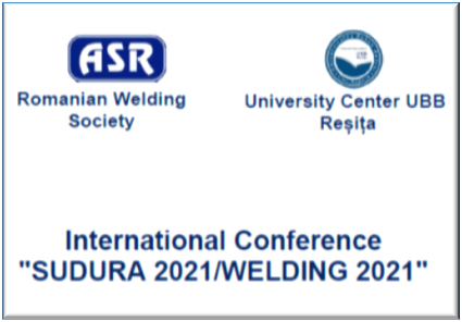 ASR – Int. Conference Welding 2021 RESITA – Call for Papers
